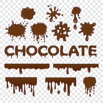 Schokoladen-splat-sammlung