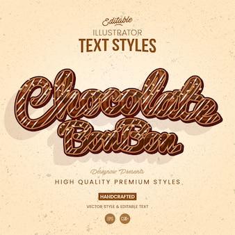 Schokoladen-text-stil