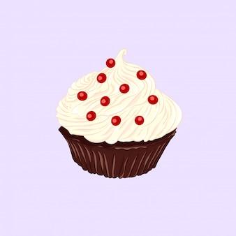 Schokoladencupcake mit vanillecreme