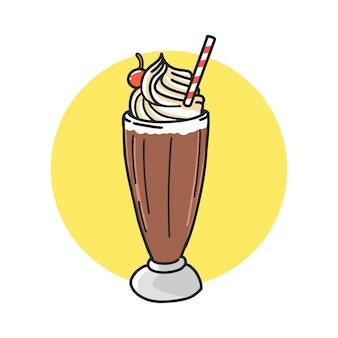 Schokoladenfloss-cartoon