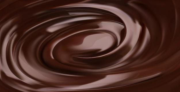 Schokoladenhintergrund, realistischer vektor 3d