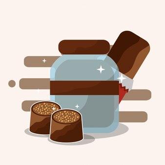 Schokoladenkakao-karte