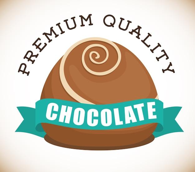 Schokoladenkonzept mit süßem ikonendesign, grafik der vektorillustration 10 env.