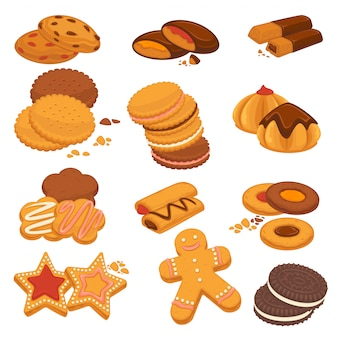 Schokoladenplätzchen und lebkuchenkekse