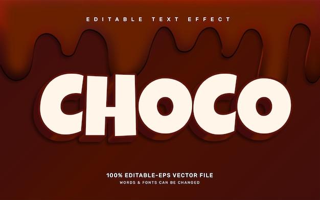 Schokoladentexteffekt
