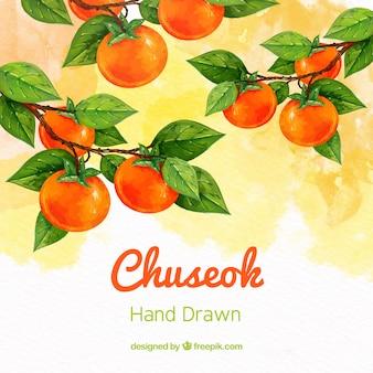 Schöne Hand gezeichnete Chuseok-Komposition