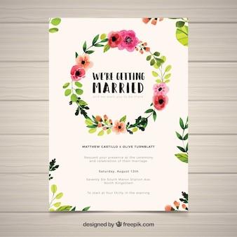 Schöne Hochzeitseinladung