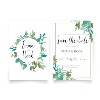 Schöne Hochzeitseinladungs-Schablone