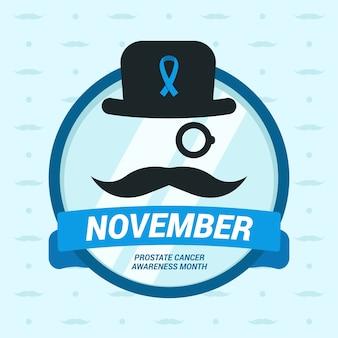 Schöne Movember-Komposition mit flachem Design