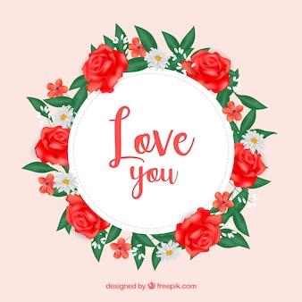 Schöne Rosenfahne