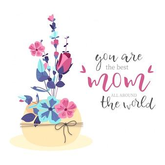 Schönen Blumenstrauß zum Muttertag