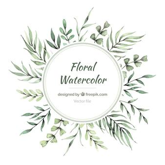 Schöner Aquarell Blumenrahmen