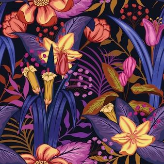 Schöner Blumenmusterentwurf