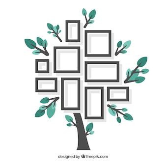 Schöner flacher Baum mit Fotorahmen