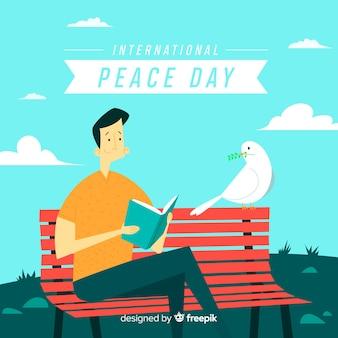 Schöner Friedenstageshintergrund