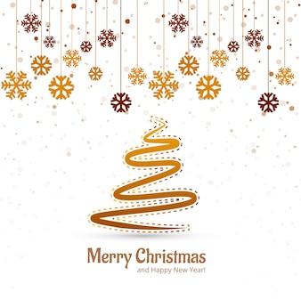 Schöner fröhlicher Weihnachtsbaumfestival-Hintergrundvektor