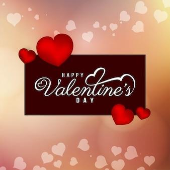 Schöner Hintergrund des abstrakten glücklichen Valentinstags