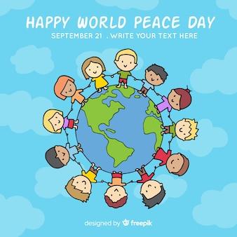 Schöner Tag des Friedens Hintergrund