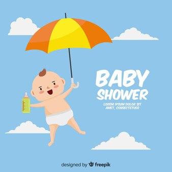 Schönes Babyduschekonzept