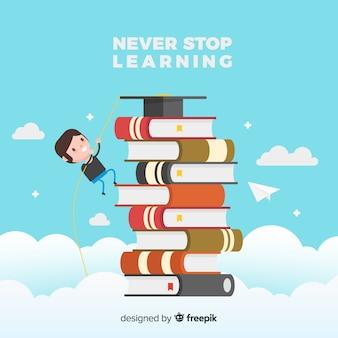 Schönes Educaction-Konzept mit flachem Design