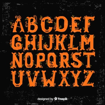 Schönes Halloween-Alphabet