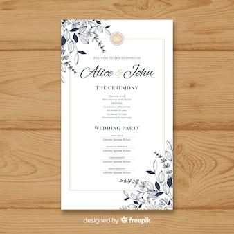 Schönes Hochzeitsprogramm mit elegantem Stil
