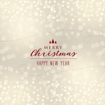 Schönes Weihnachten Bokeh Hintergrunddesign