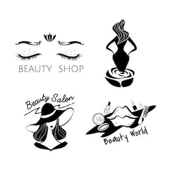 Schönheits- und Modelogovektor der Frauen