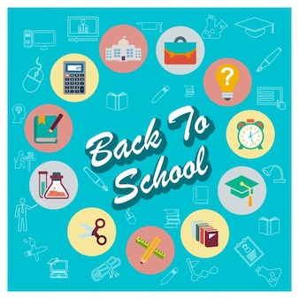 School material icon collection