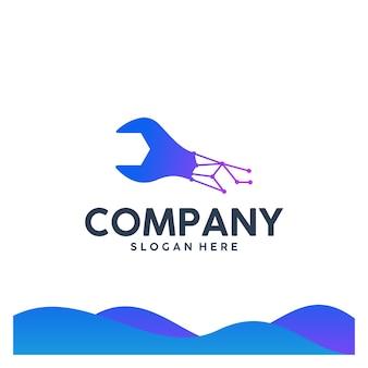 Schraubenschlüssel, service, logo-vorlage