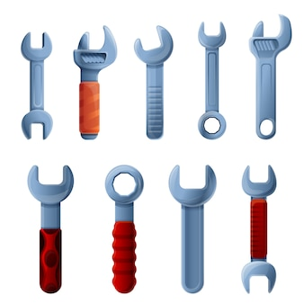 Schraubenschlüssel symbole festgelegt
