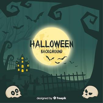 Schreckliche hand gezeichneter halloween-hintergrund