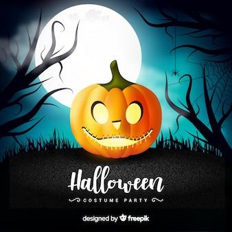 Schrecklicher halloween-hintergrund mit realistischem design