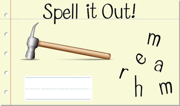 Schreib es hammer aus