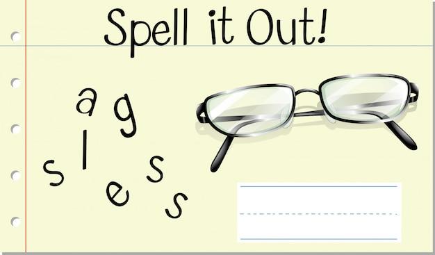 Schreibe brille aus