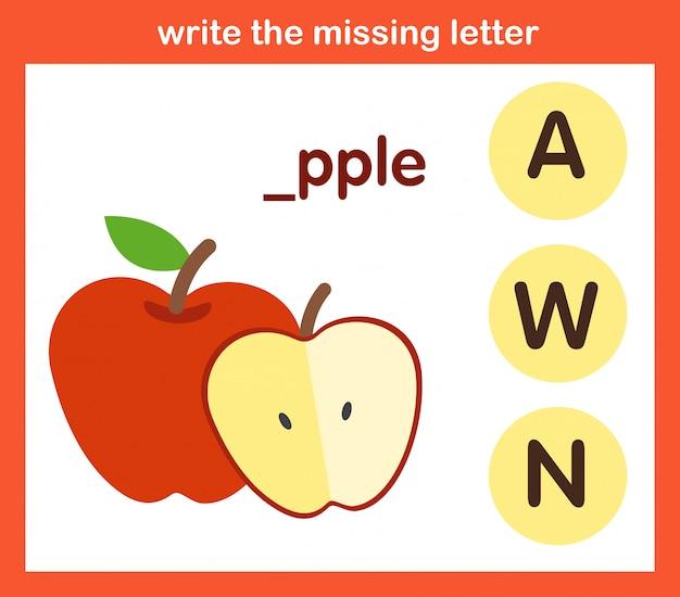Schreibe den fehlenden buchstaben