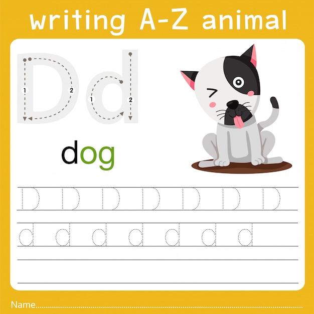 Schreiben eines tieres d