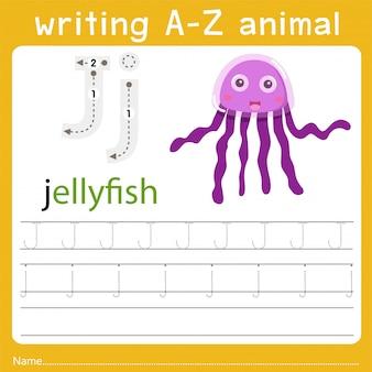 Schreiben eines tieres j