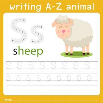 Schreiben eines tieres s