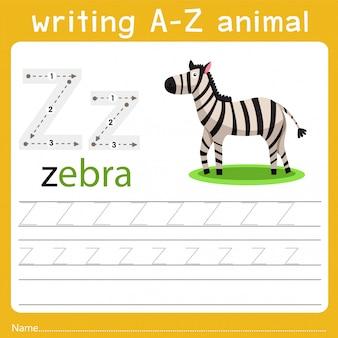 Schreiben eines tieres z