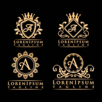 Schreiben sie ein luxus-logo