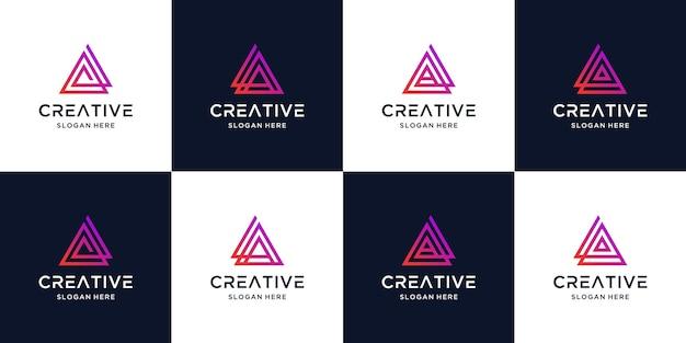 Schreiben sie eine logo-farbverlaufssammlung