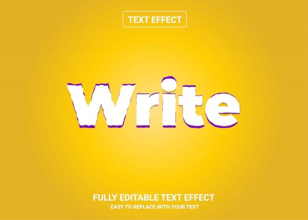 Schreiben sie einen bearbeitbaren textstileffekt