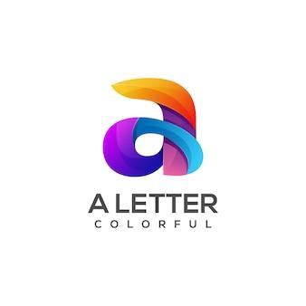 Schreiben sie einen logo bunten farbverlauf