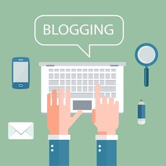 Schreiben sie ihr story-banner für journalismus und blogging