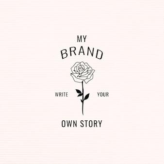 Schreiben sie ihre eigene story-branding-vorlage