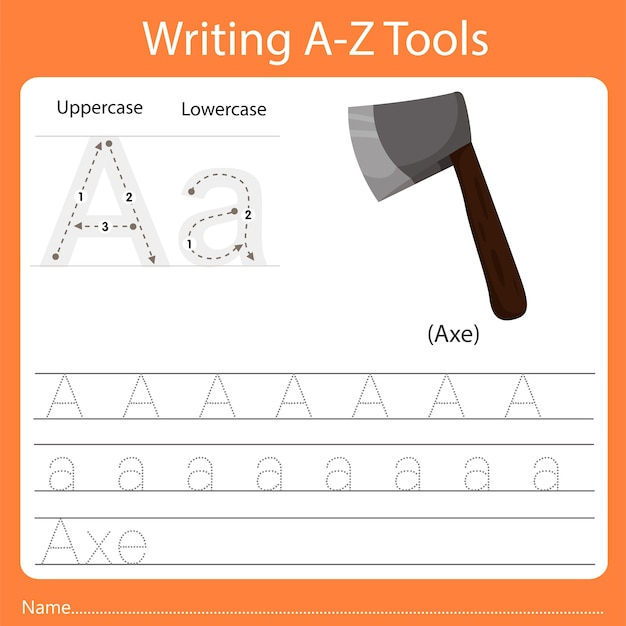 Schreiben von az-werkzeugen a.