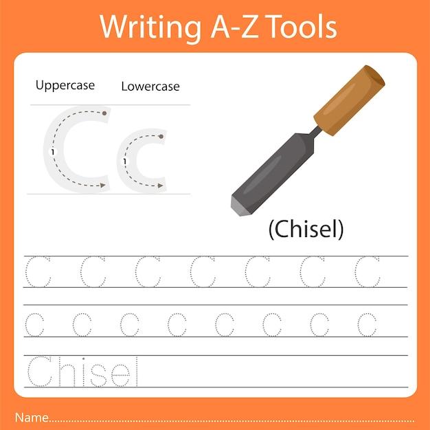 Schreiben von az-werkzeugen c.