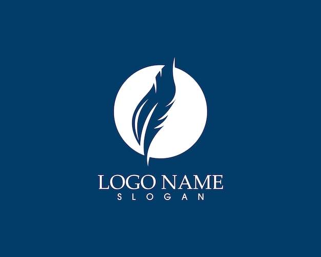 Schreibfeder schreiben zeichen logo