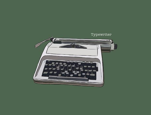 Schreibmaschine, hand zeichnen.